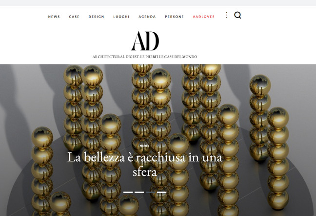 """""""96 spheres"""" collaboration with La Prairie is published in AD Italia"""
