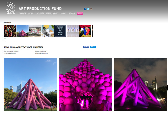 Pyramid Tubes and Pyramid Tight in Philadelphia curated by Art Production Fund