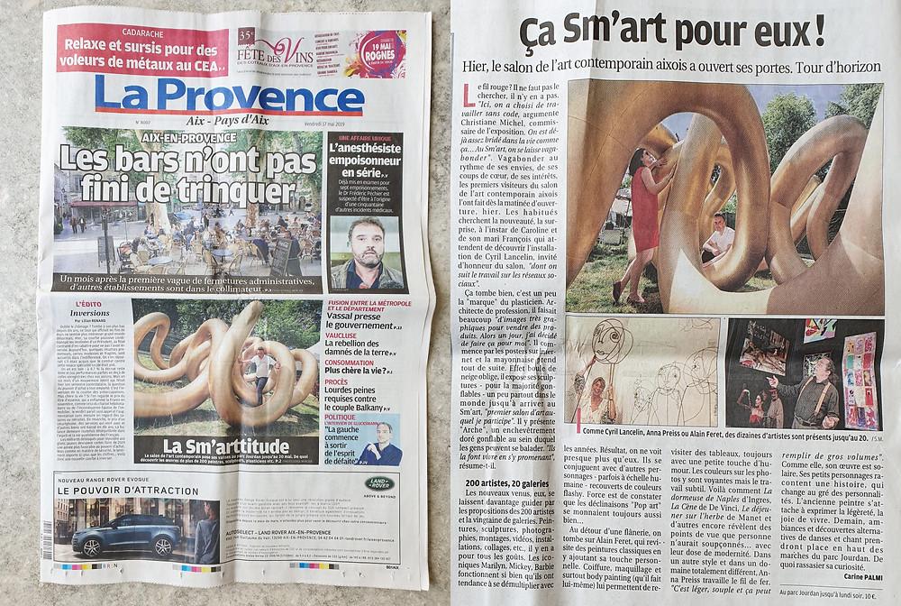 """""""Arches"""" in local newspaper La Provence.."""