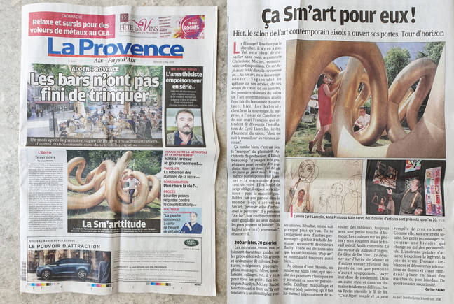 """Arches"" in local newspaper La Provence."