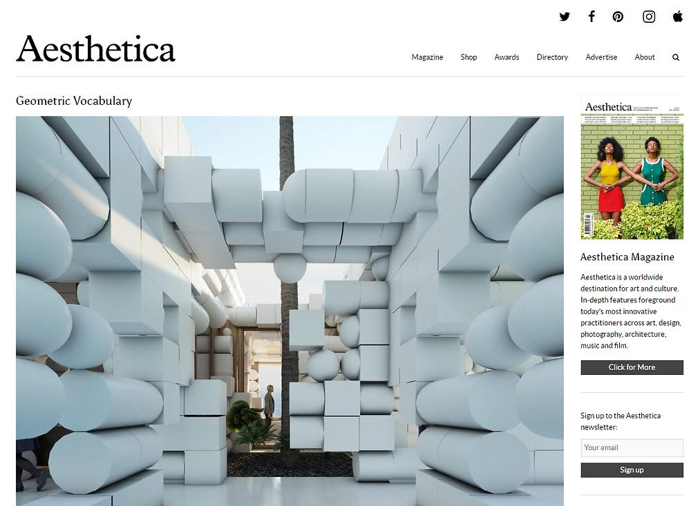 Geometric Vocabulary in Aesthetic Magazine