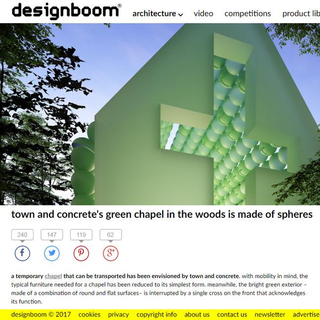 Green Chapel article on Designboom