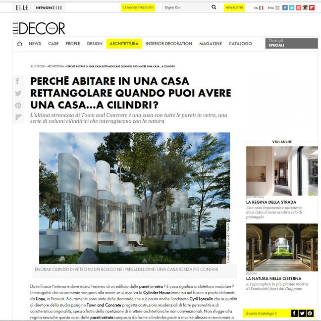 House Cylinder on Elle Decor Italia blog