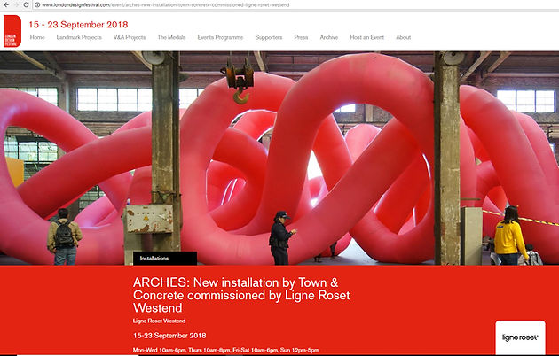 Installation Arches in London Design Festival 2018, commisioned by