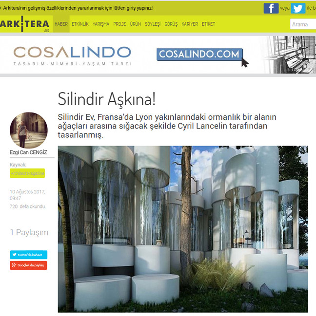 House Cylinder in Arkitera