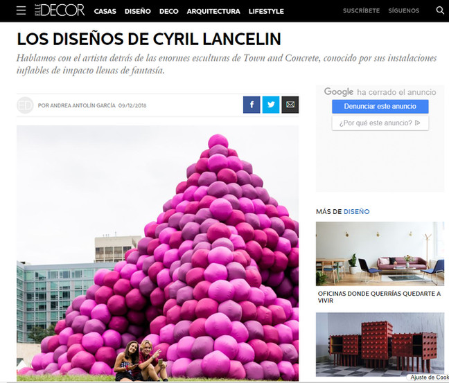 Interview on Elle Decor Spain website
