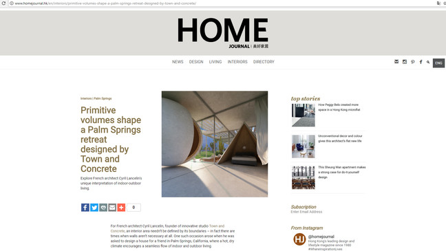"House ""cabins"" in HOME Journal Hong Kong"