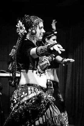 Black and White ATS American Tribal Style Belly Dance Boheme Tribal