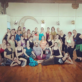 Belly Dance Students with Mardi Love at Carava of Dreams World Dance Studio in Kalmazoo, Michigan