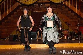 Sarah and Erik of Boheme Tribal Belly Dance at Sacred Circles in Lexington, Michigan
