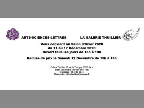 2020 - GALERIE THUILLIER