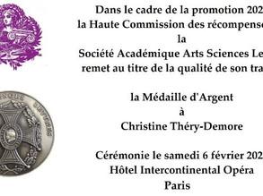 2020 - MÉDAILLE D'ARGENT