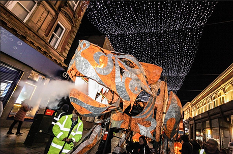 Walk the Plank's Bengal Tiger, Bolton Diwali on the Square 2019. Image by Nick Clarke.