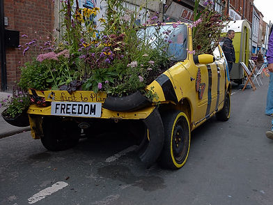 Promoting sustainability at Freedom Festival, Hull 2014.