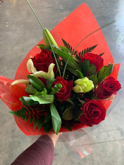 Our 6 Stem Rose Bouquets!