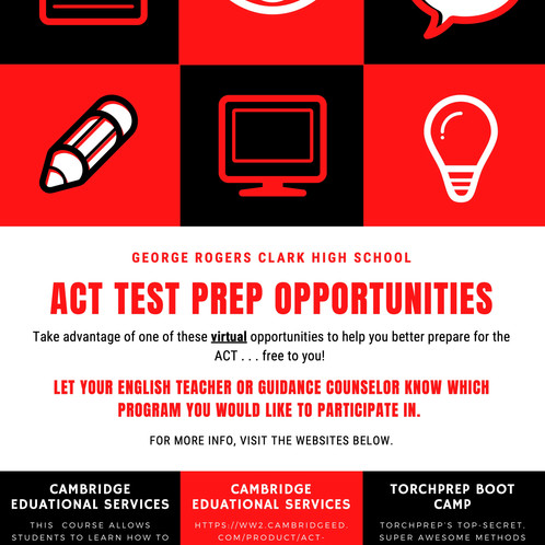 Virtual ACT prep opportunities