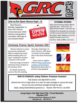 Title 1 September Newsletter