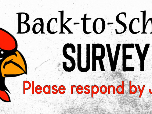 Back-to-school survey due July 8