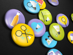 Madminton Buttons