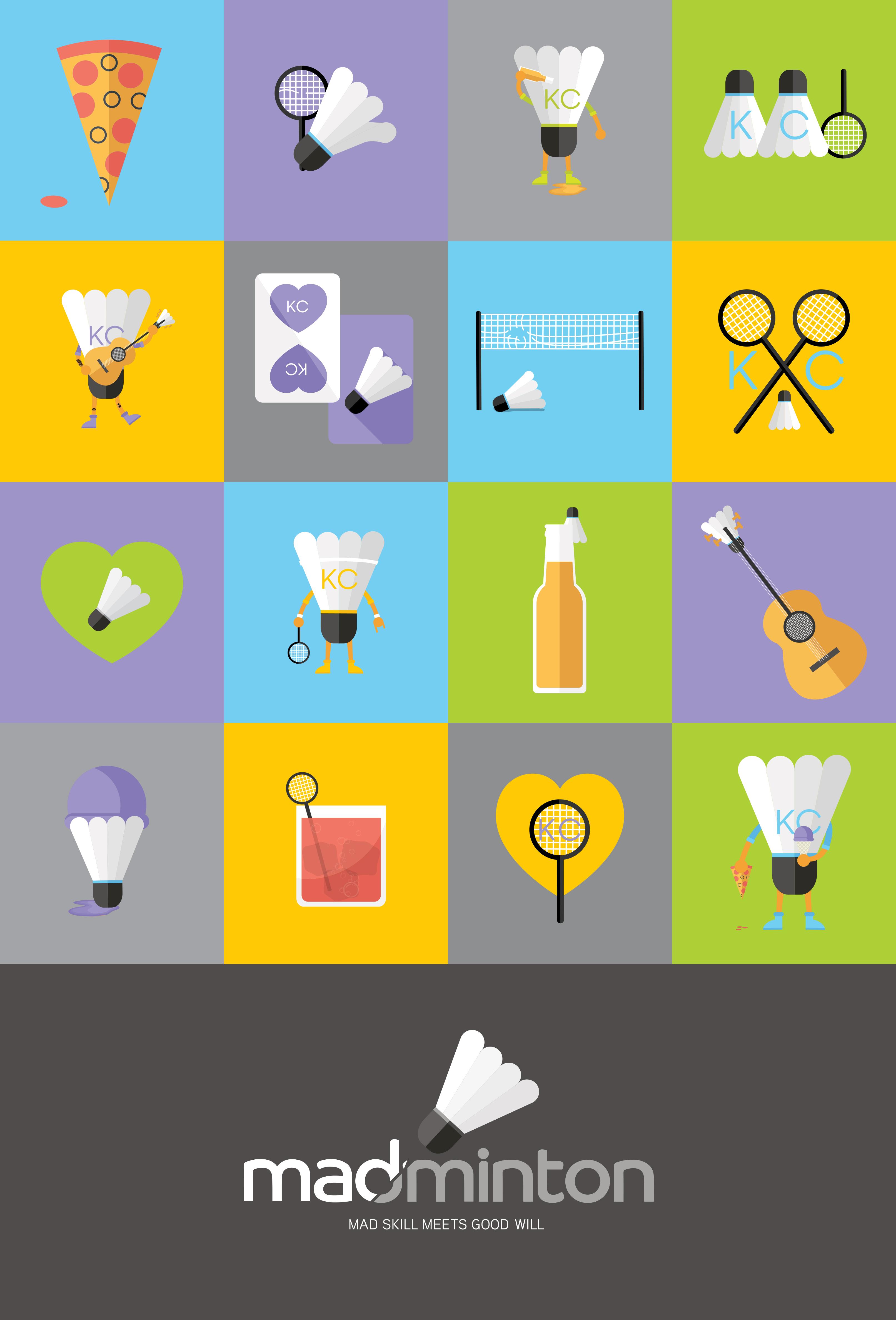 Madminton Brand Elements