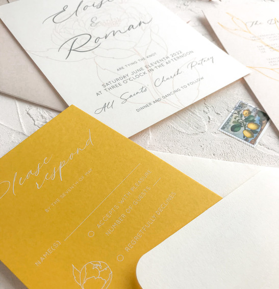 RSVP card - Peony collection