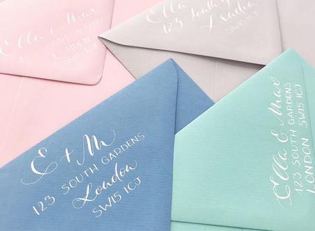 Return address: 4 ways to step up your wedding envelope game