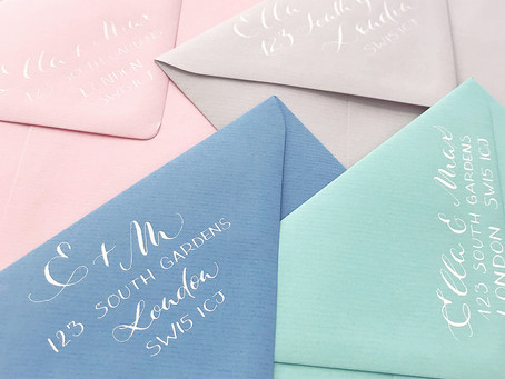 Return address: 4 ways to step up your wedding envelope game