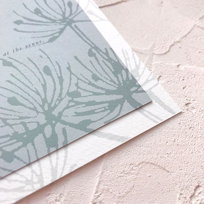 dandelion wedding invitation
