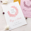Save the Date Wedding stationery with calligraphy and illustrations