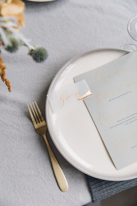 Grey and gold table