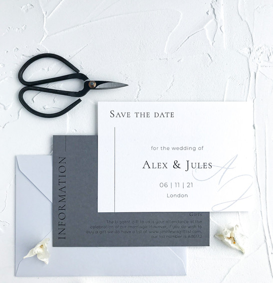 Save the date card - minimal semi custom collection