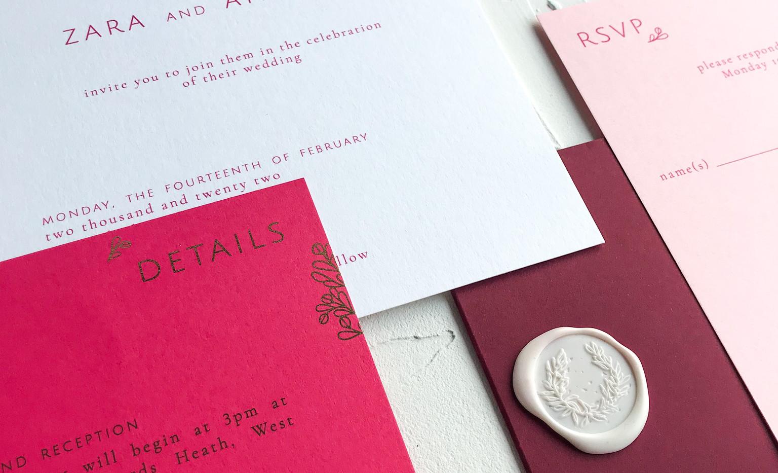 Wedding invitation suite - Blossom semi custom collection