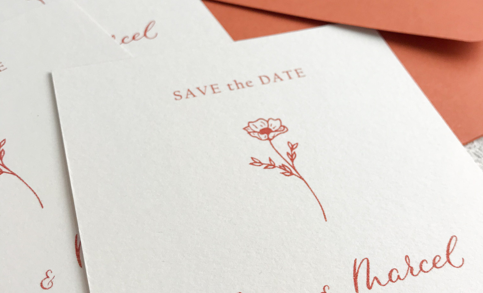 Save the date card - Provence semi custom collection