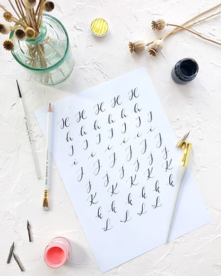 London Private modern calligraphy class