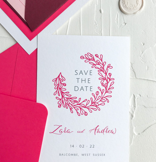 Save the date card - Blossom collection