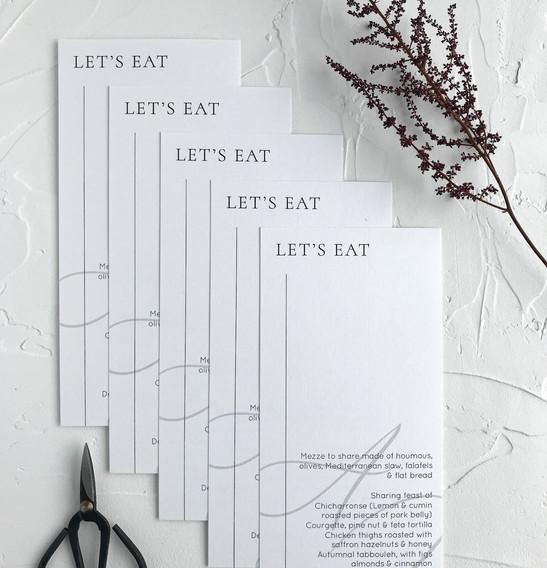 menus - minimal collection