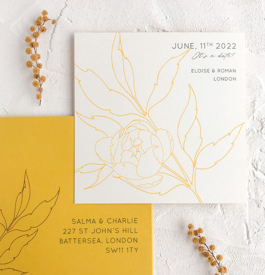 Save the date - Peony collection