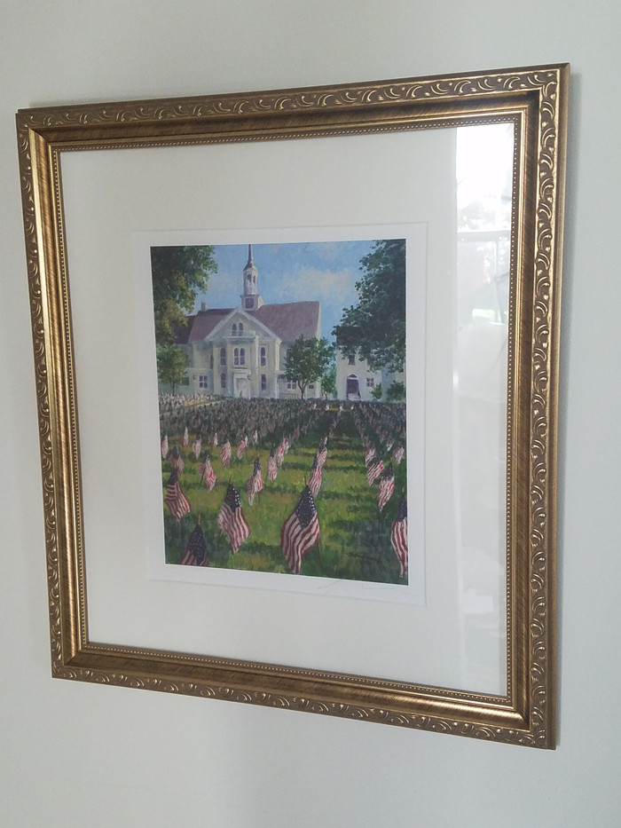 Flags on the Fourth (matted and framed)_2