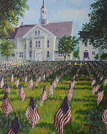 Flags on the Fourth (matted and framed)