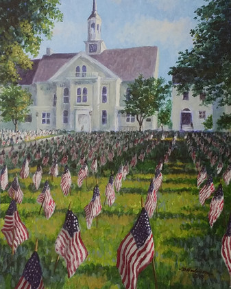 Flags on the Fourth (matted and framed)_1