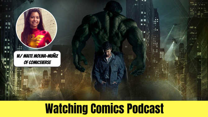 INCREDIBLE HULK & Ed Norton w/ Maite of ComicsVerse