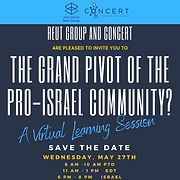 The Grand Pivot of the Pro-Israel Community? - A virtual Session