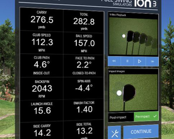 The only camera based simulator on the market to offer in-flight measurement. As your ball is hit toward the screen, it passes our four high-speed linescan cameras, measuring your ball speed, launch angle and direction in real-time.