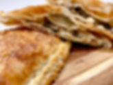 Creamed mushroom & Feta pastry take away catering CarmEli Old Fashion Cookig
