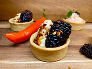 Chilli berry canapés catering in Melbour