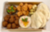 Family falafel tray take away meals CarmEli Old Fashion Cookig Catering