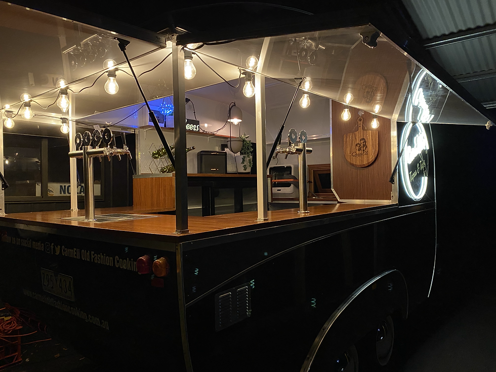 Eddie the caravan bar Event hire in Melbourne CarmEli Old Fashion Cooking