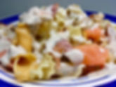 Creamed smoked salmon pasta take away meals CarmEli Old Fashion Cookig Catering