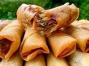 Thai spring rolls finger food catering i