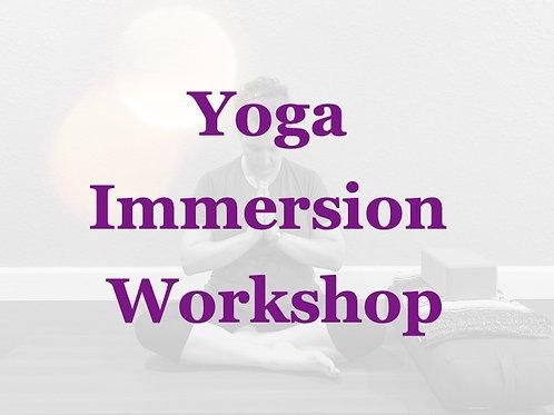 Yoga Immersion Workshop